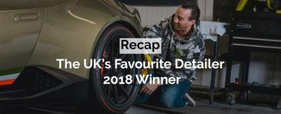 The UKs favourite detailer 2018 winner